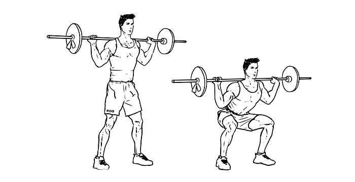 exact barbell squat