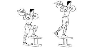 how to barbell step up