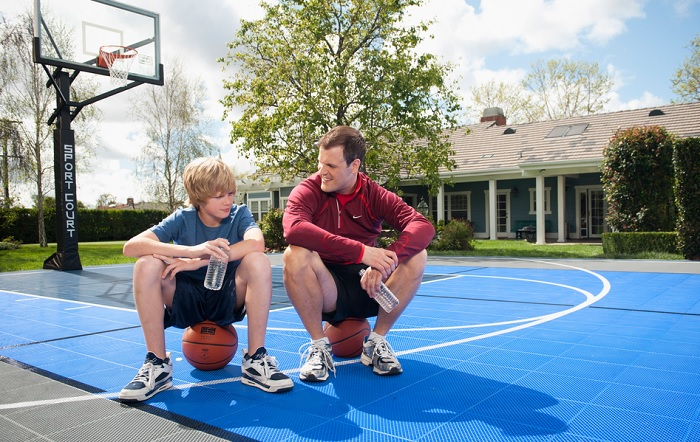 how to make a basketball court cheap